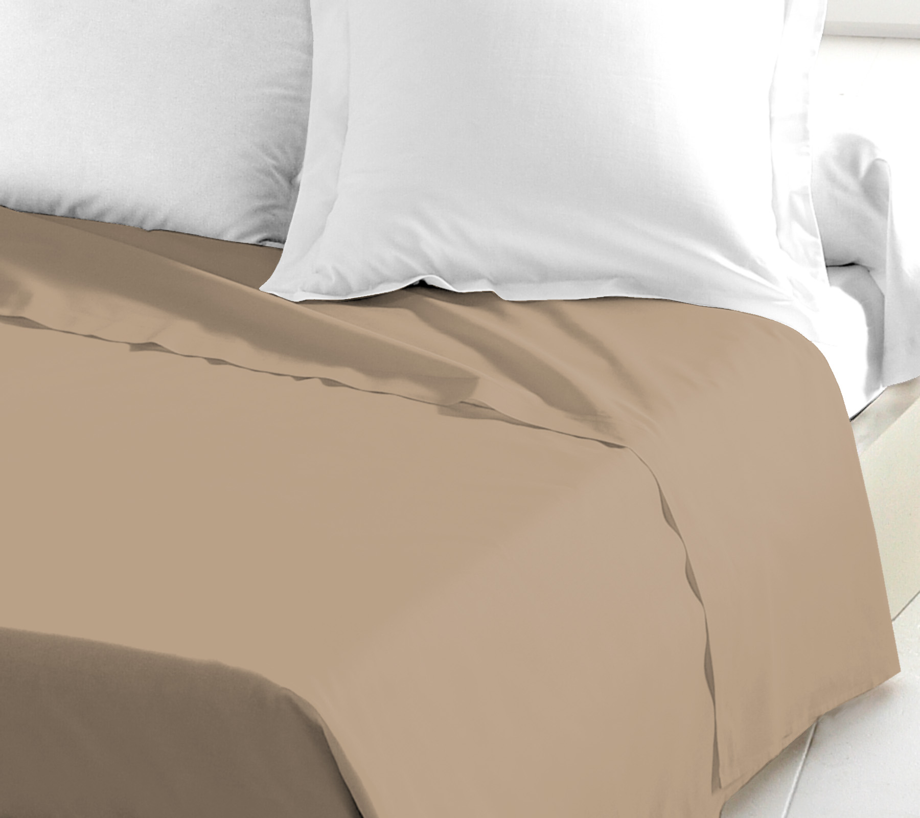 Drap plat 100% coton 180x290 lin