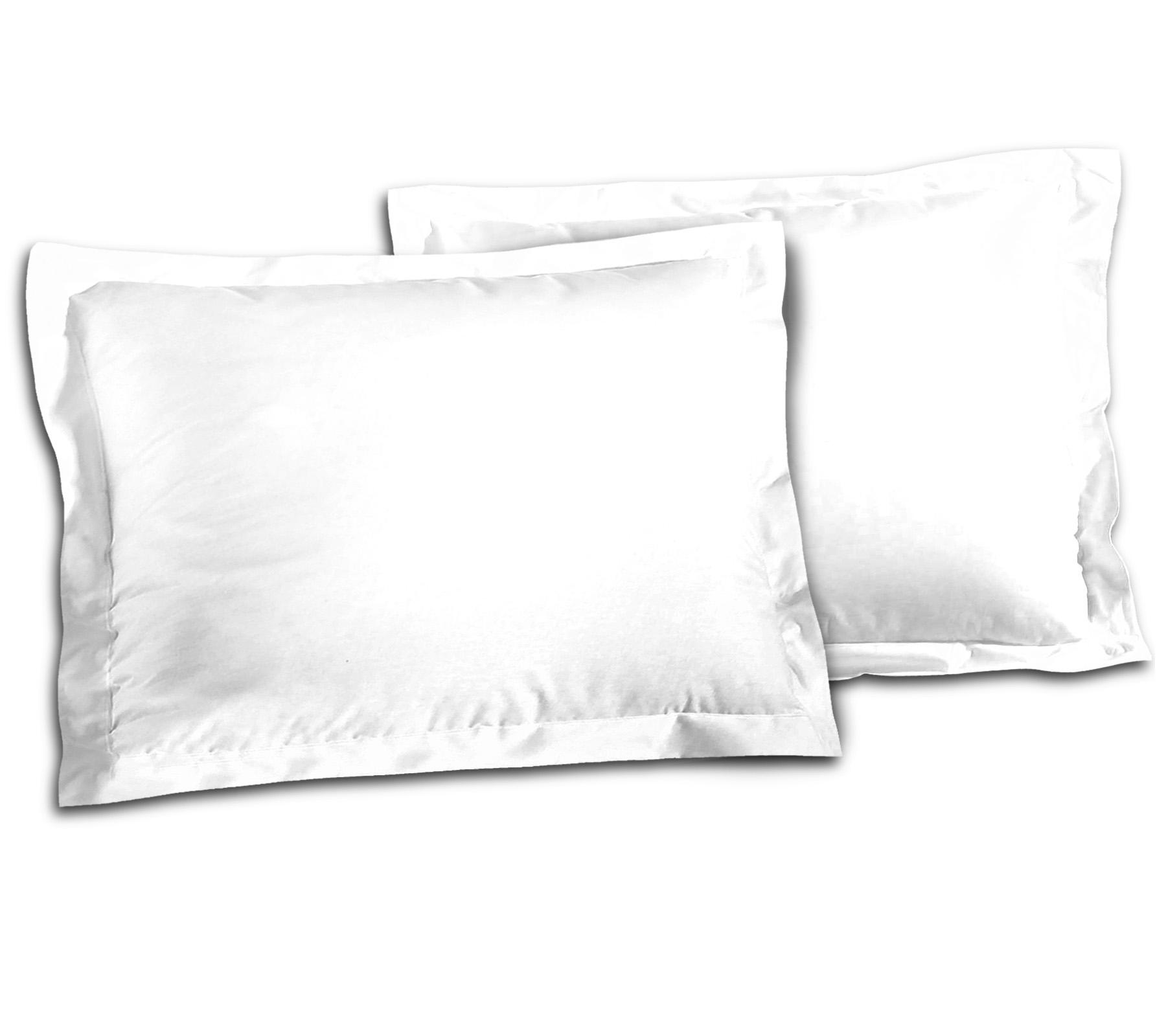 Paire de taies 100% coton 50x70 blanc