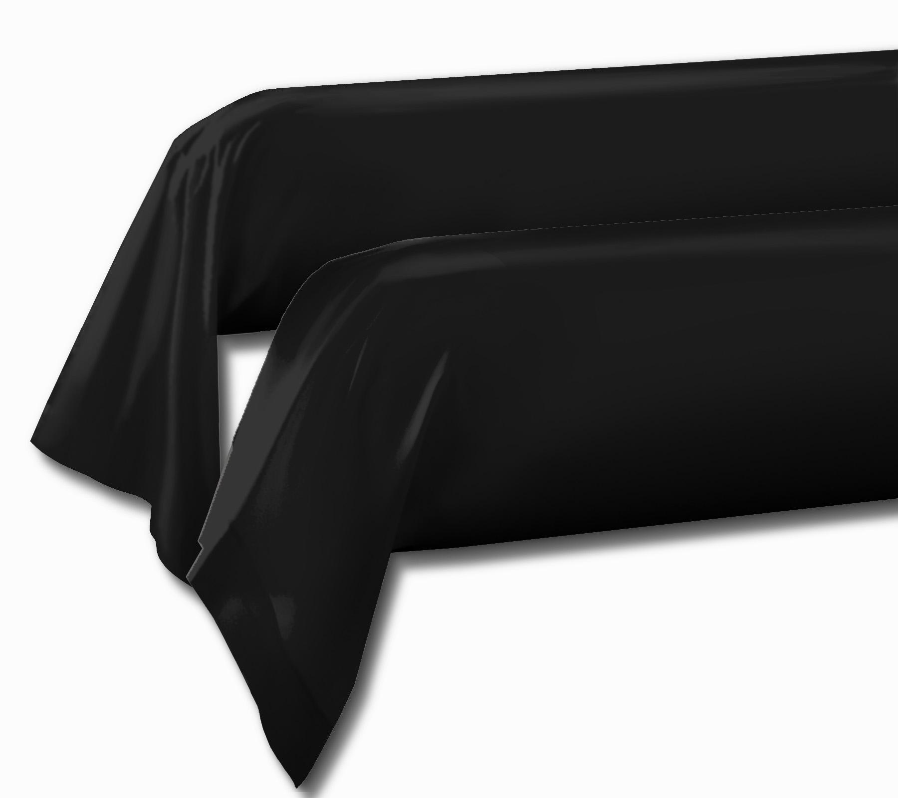 Paire de taies 100% coton 85x185 noir