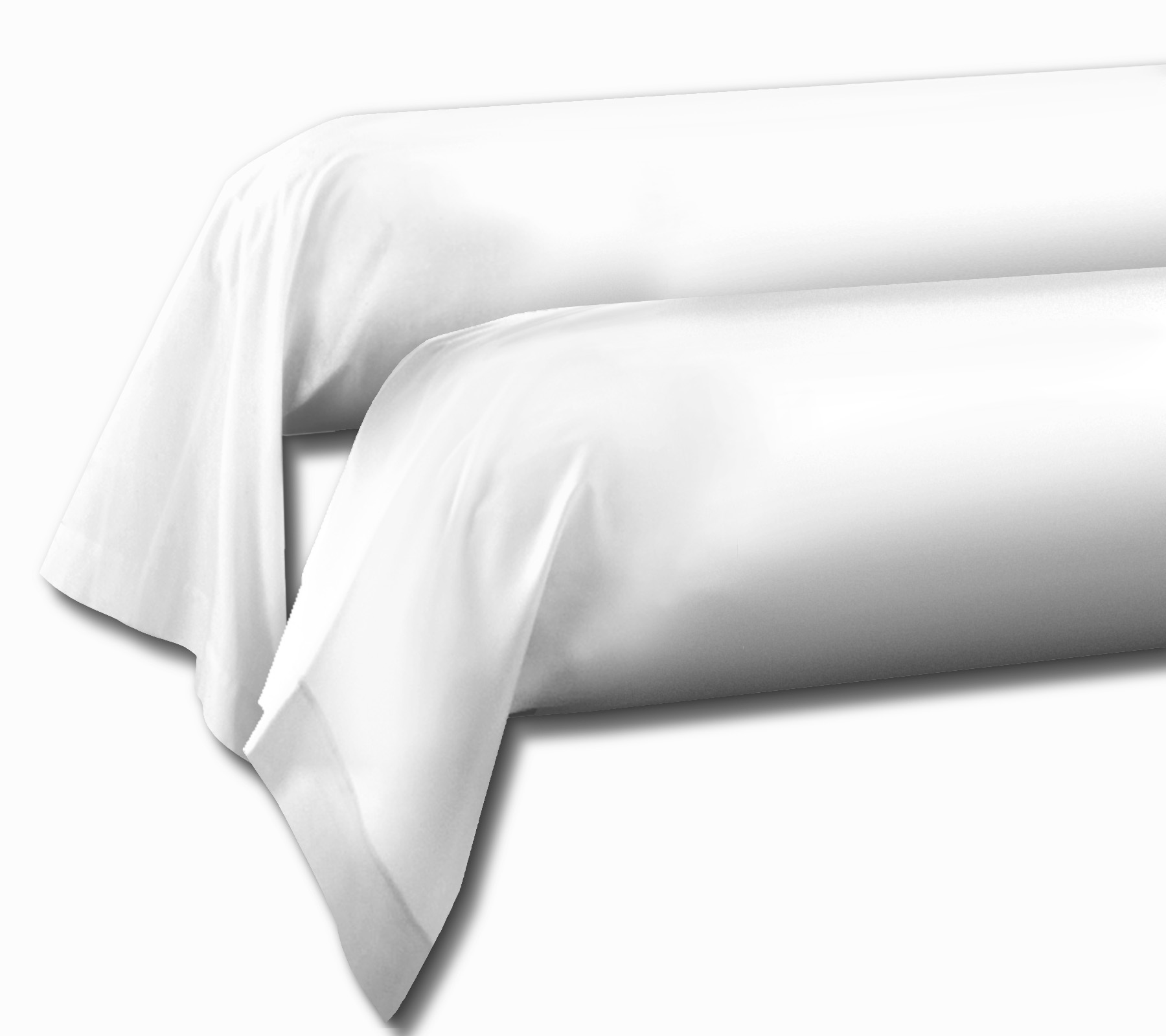 Paire de taies 100% coton 85x185 blanc