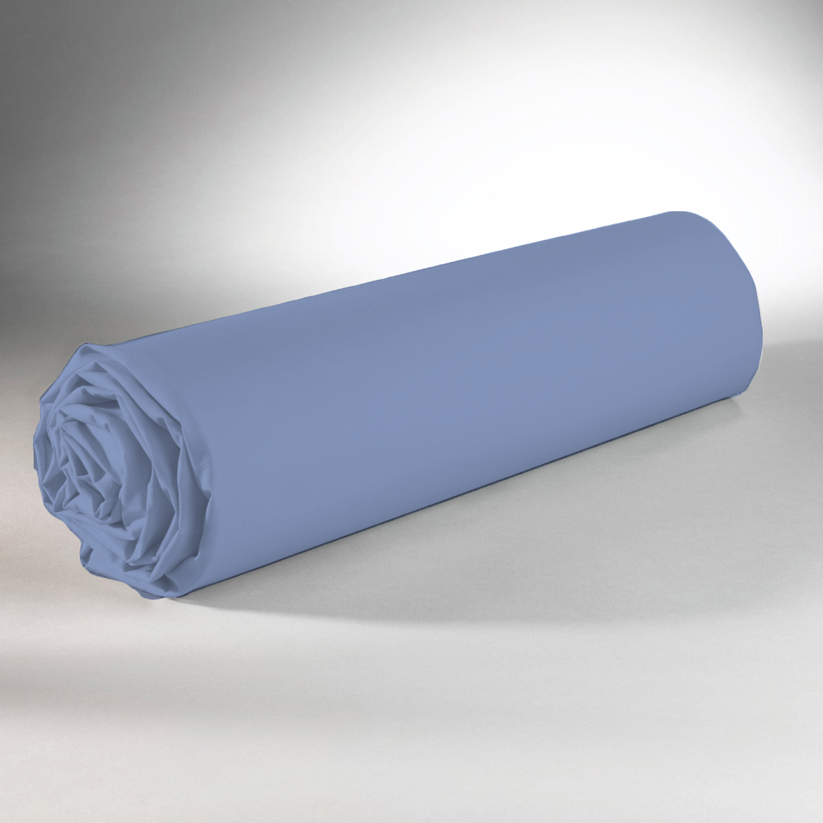 Drap housse 100% coton 160x200+25 portofino blue