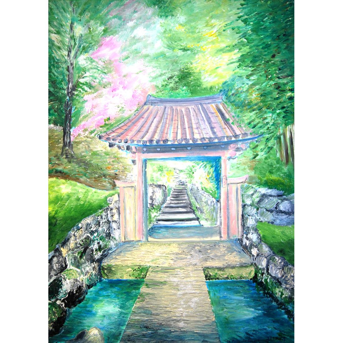 La Porte du Levant - tableau zen reproduction sur toile