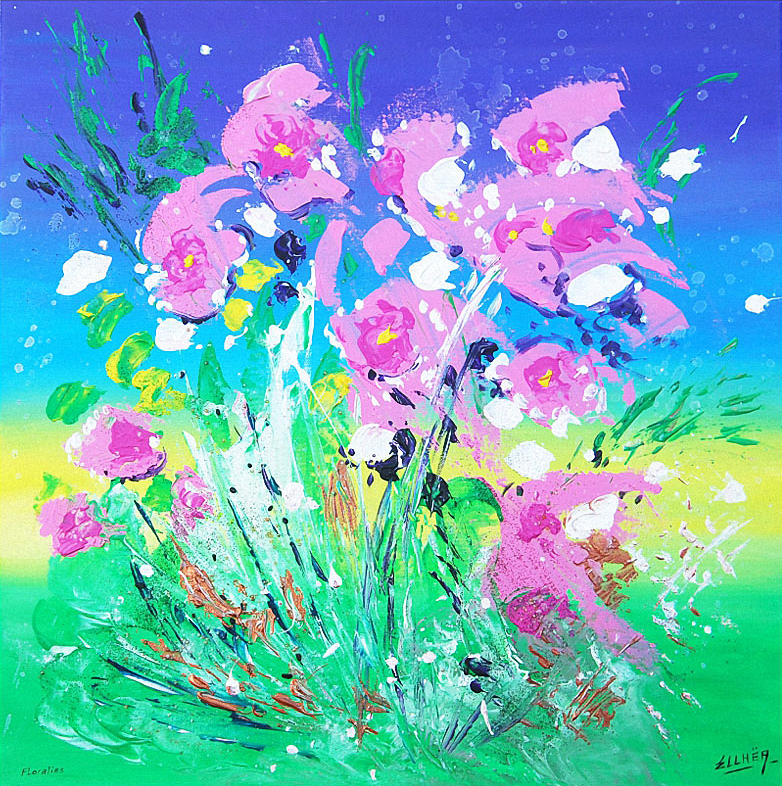Floralies - peinture abstraite lyrique