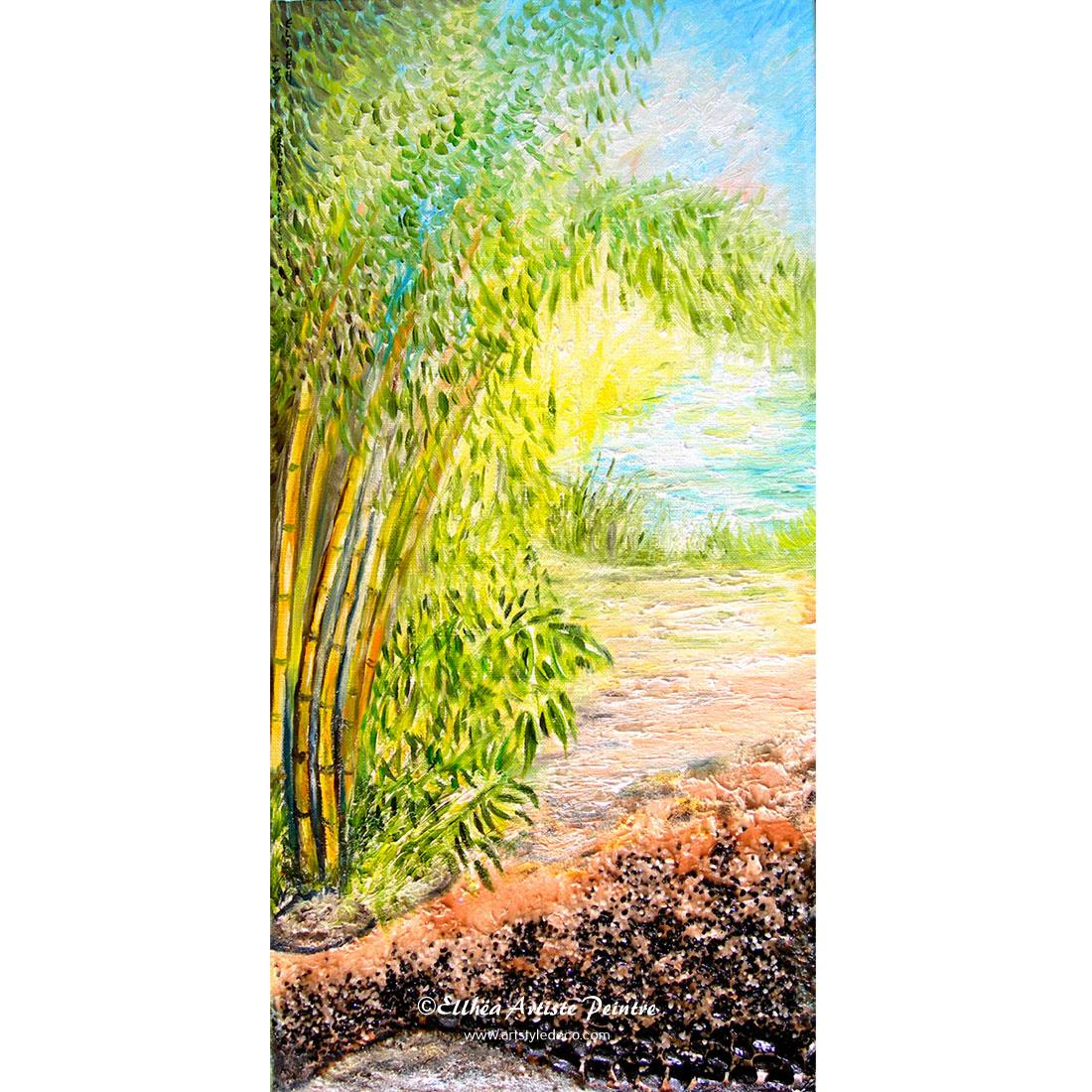 Les Bambous - reproduction peinture feng-shui