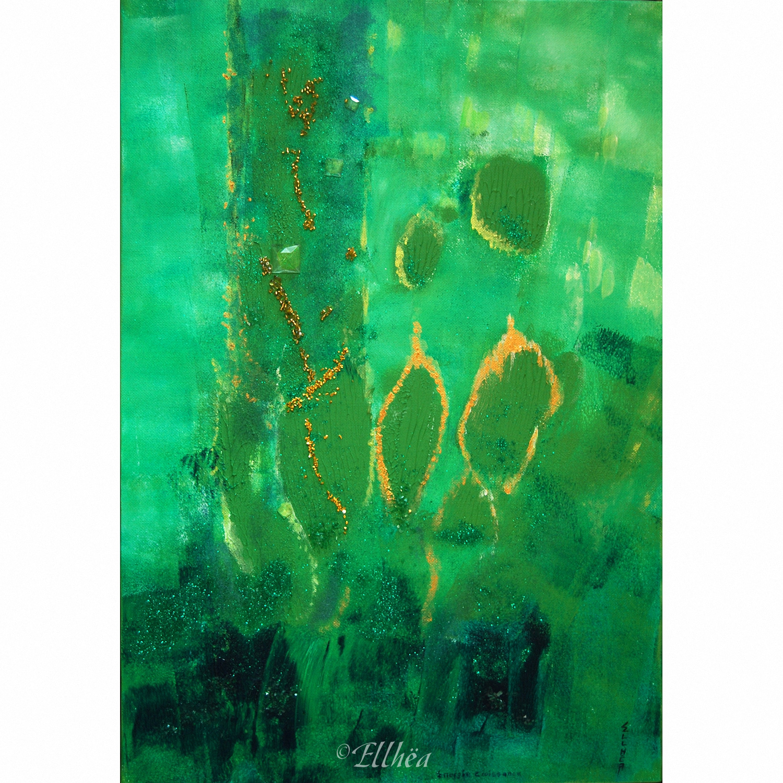 Tableau zen nature Energie Croissance - peinture originale Ellhea