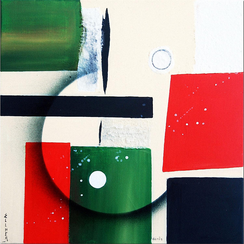 Peinture abstraite géométrique Cérès