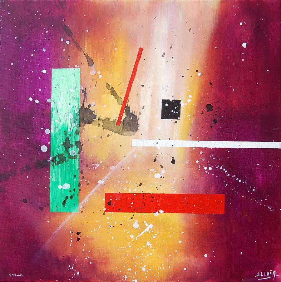 Peinture abstraite géométrique Stratum