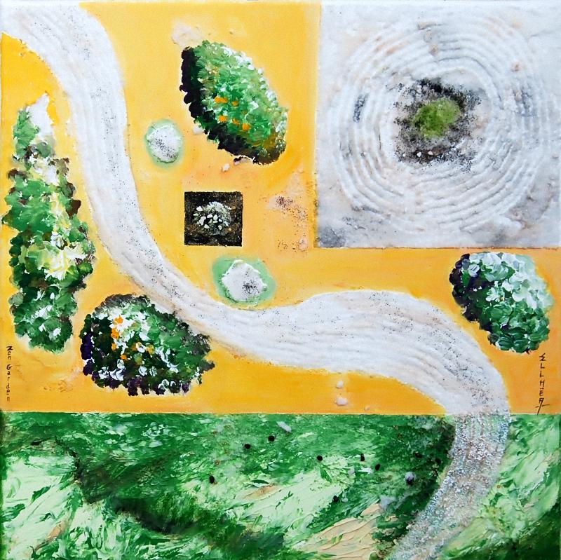 Tableau zen nature Zen Garden abstrait