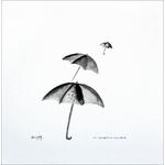 cadre-noir-et-blanc-les-parapluies-dessin-unique-peintre-ellhea-galerie-art-style-deco