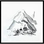la-montagne-peinture-zen-encre-noire-peintre-ellhea-galerie-art-style-deco
