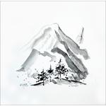 la-montagne-encre-zen-peinture-unique-peintre-ellhea-galerie-art-style-deco