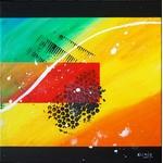 triptyque-abstrait-crescendo part 3-peintre-abstrait-ellhea-galerie-art-style-deco
