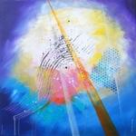 tableau-abstrait-bleu-toboggan-oeuvre-unique-peintre-ellhea-galerie-art-style-deco