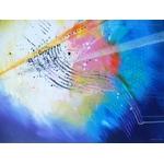 peinture abstraite toboggan - tableau abstrait bleu - artiste Ellhea-galerie art style deco