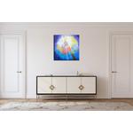 tableau-abstrait-bleu-dans-interieur-contemporain-peintre-ellhea-galerie-art-style-deco