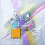 alchymie-tableau-abstrait-unique-du-peintre-ellhea-peinture-abstraite-fond-gris-galerie-art-style-deco