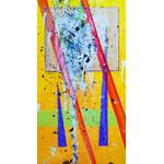 toile abstraite joker detail 3 - peintre ellhea