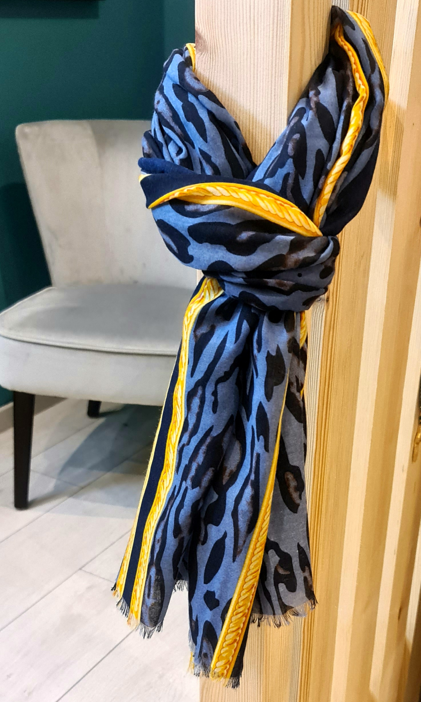Écharpe Dan bleu