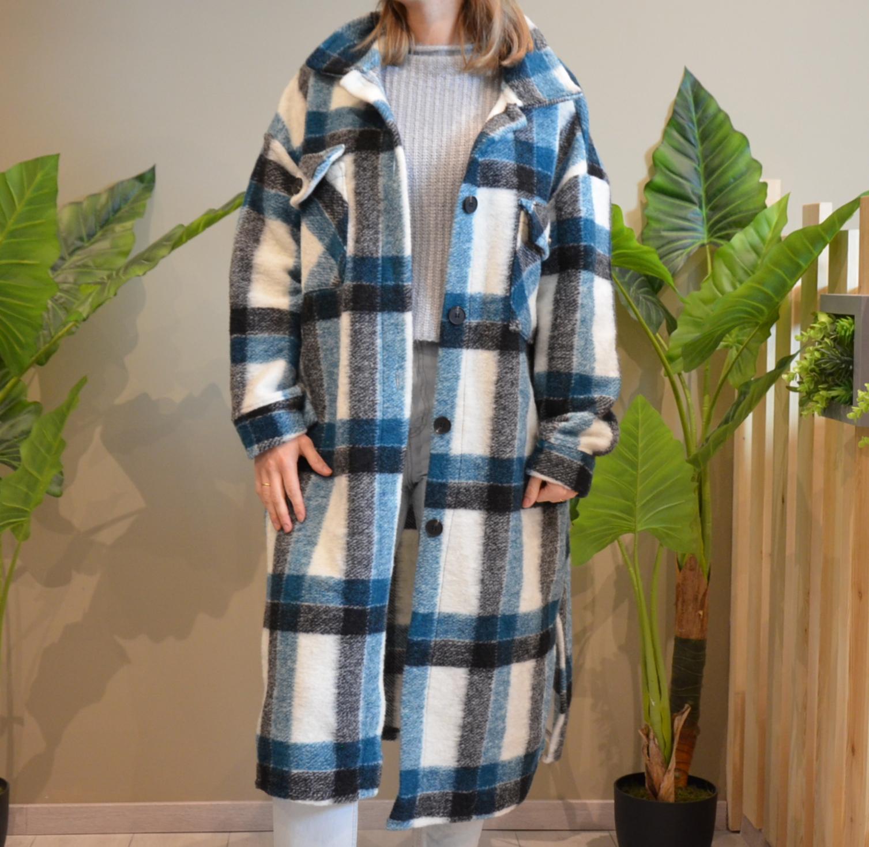 le manteau  Yna  bleu