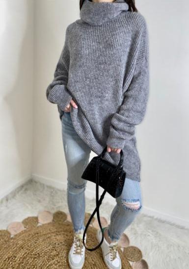 La robe pull  Courtney  gris