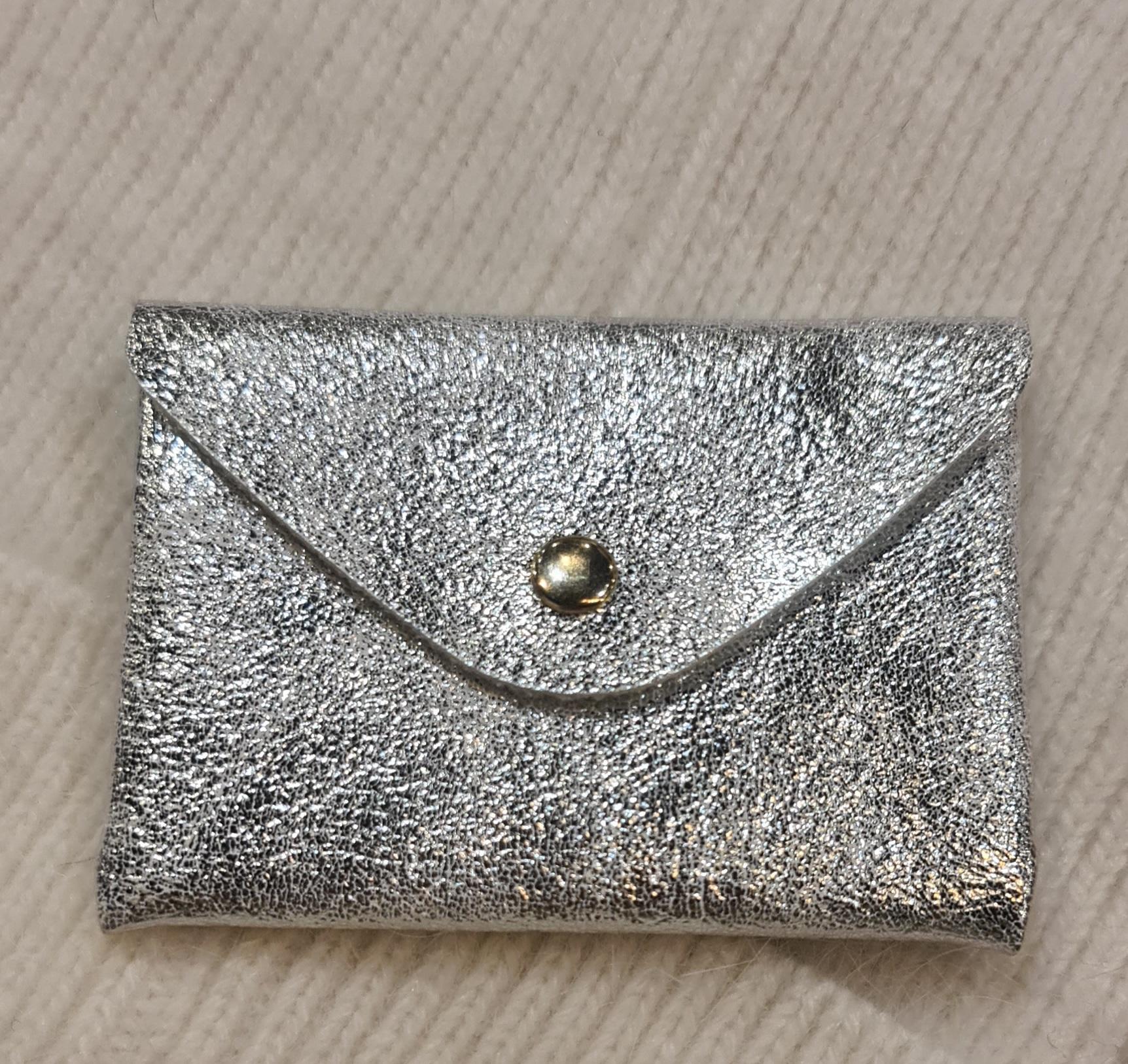 Le porte - carte argenté