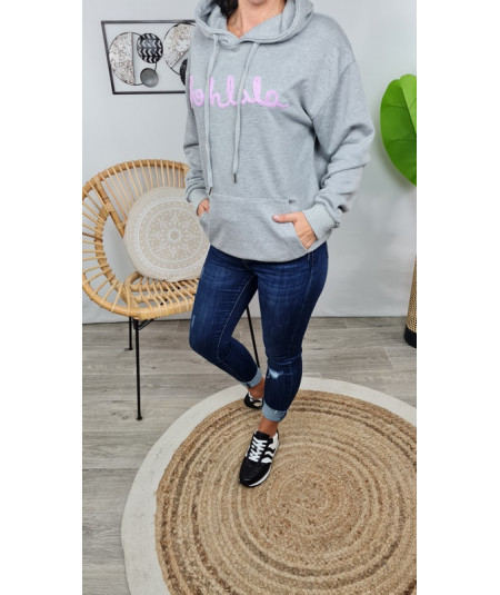 Le sweat gris  District  Oohlala