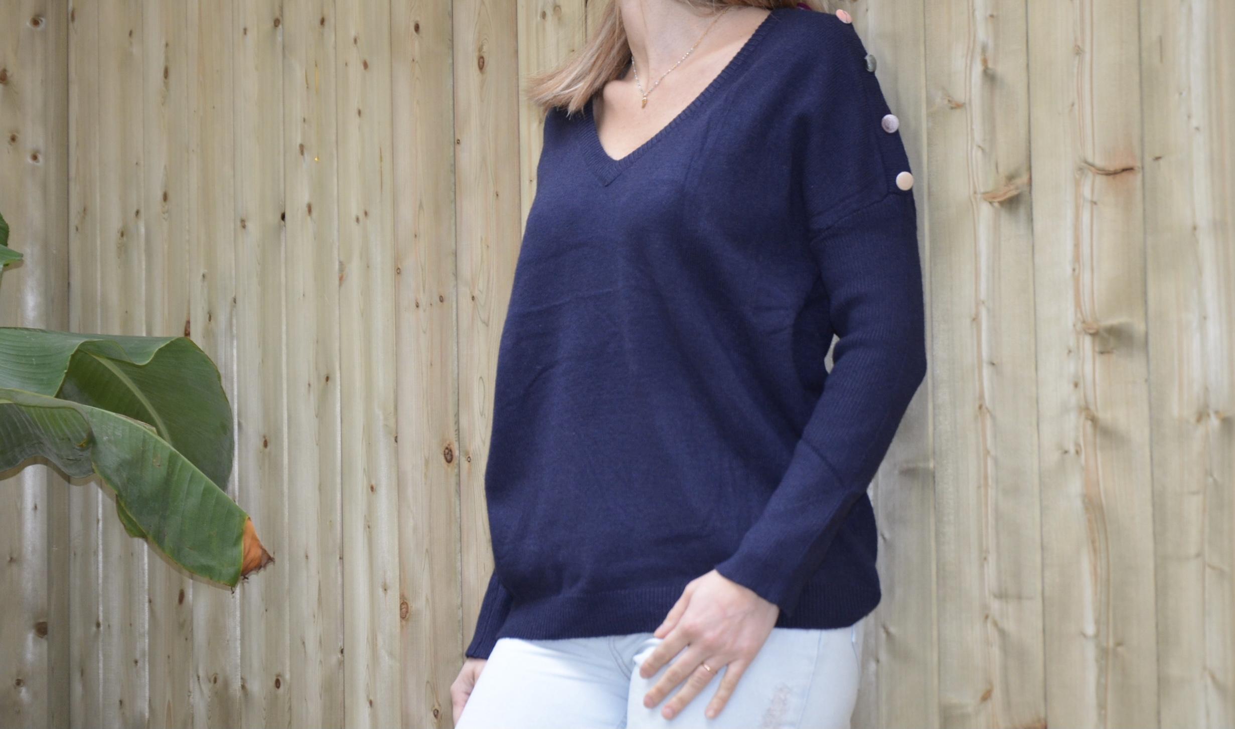 Le pull « Boubou» bleu marine