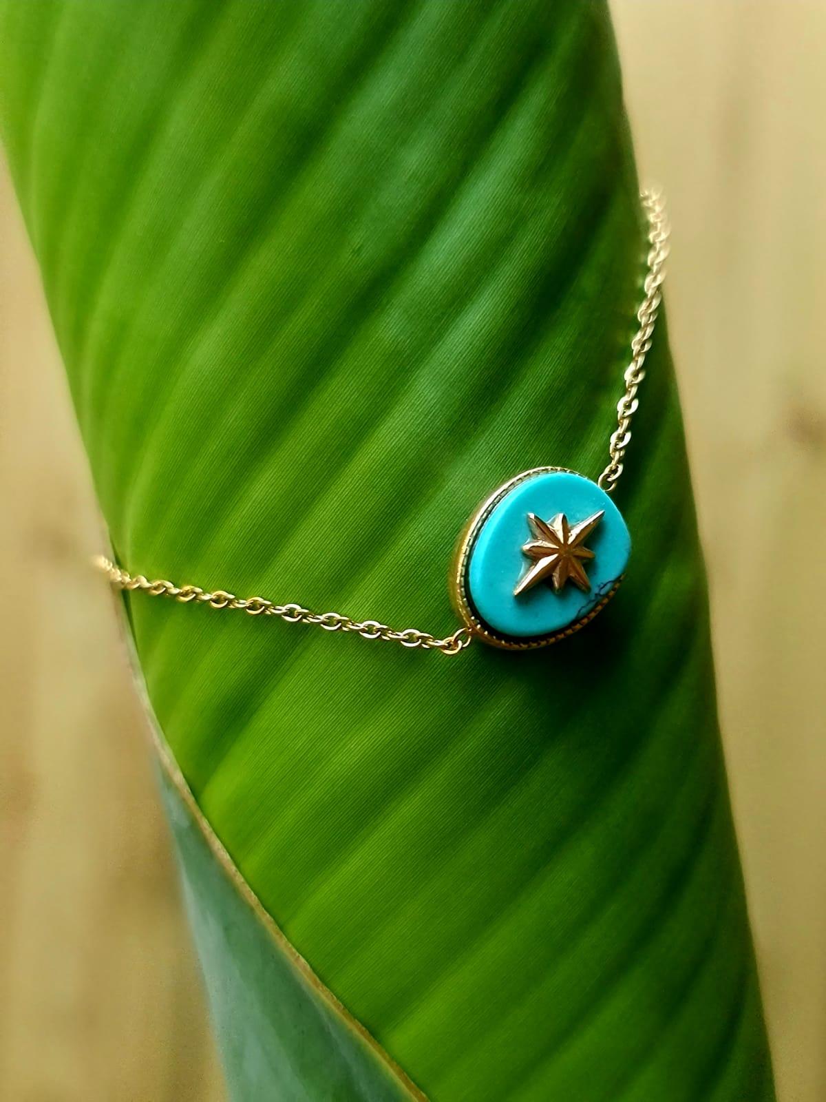 Le Bracelet « Premier» bleu turquoise
