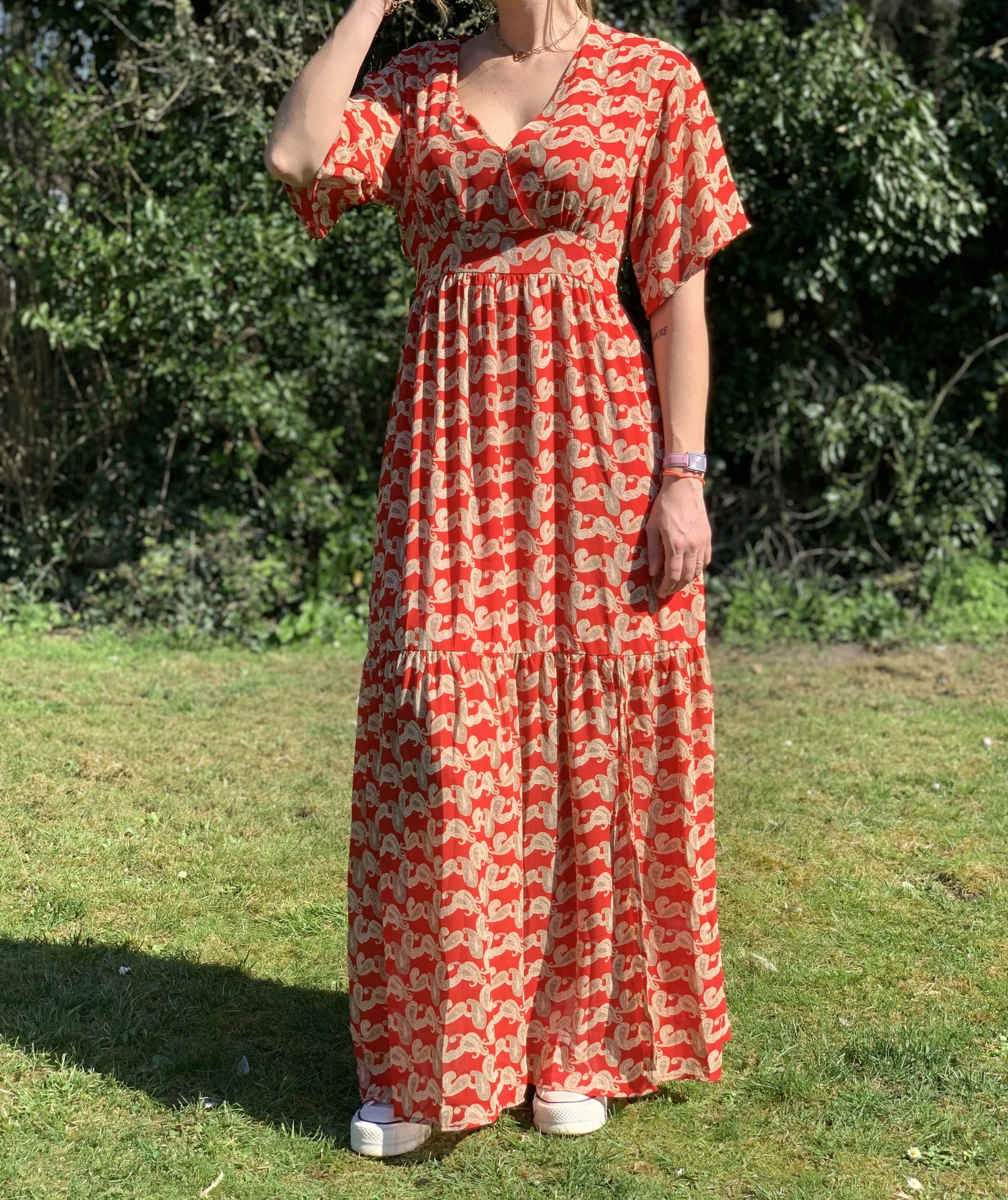 La robe « Sarah» rouge