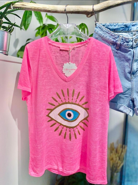 Le tee-shirt  Eye  rose
