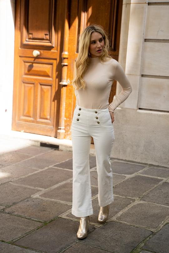 Le jean\' s  Victorine  blanc
