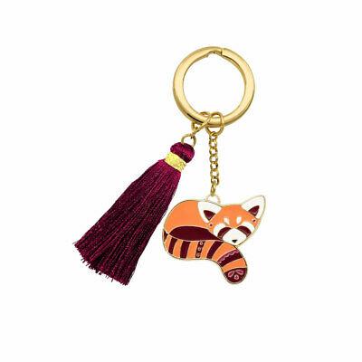 porte-clefs panda roux