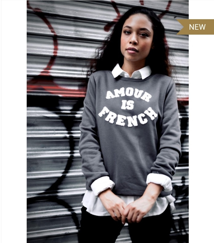 Sweat amour is french gris