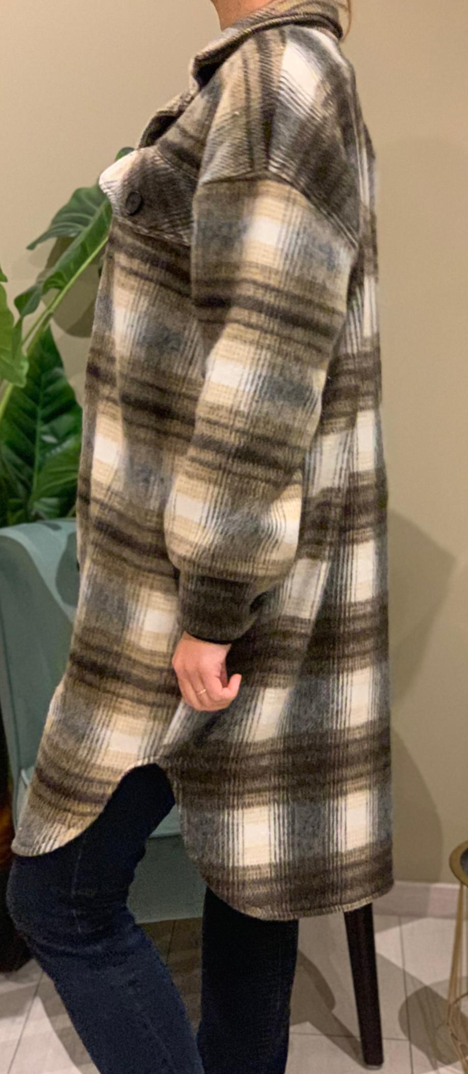 La longue sur-chemise Canada beige