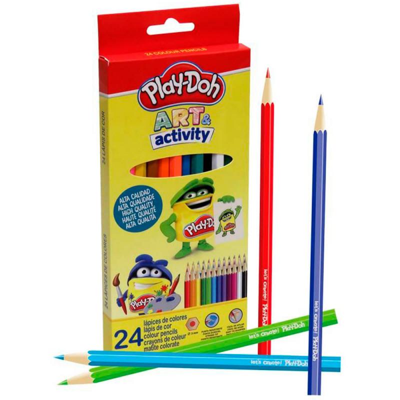 Les 24 crayons de couleurs Play Doh