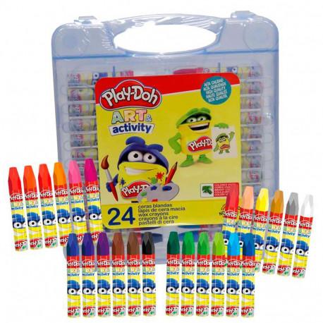 Boite de 24 crayons de cire Play Doh
