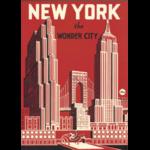 AFFICHE NEW YORK WONDER CITY