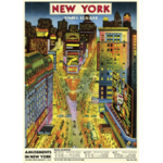 AFFICHE NEW YORK TIMES SQUARE