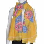 Foulard femme fleurs coloré