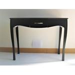 Console de style baroque noir       1 tiroir