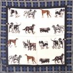 Foulards Carré motifs chiens 70 cm x 70 cm