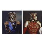 Tableau toile TIGRE ou LION  40X1,8X50 CM