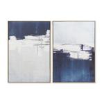 Tableau toile abstraite 62X4X93 cm