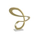 Figure aluminium marbre abstrait mat doré 38X20X40 cm