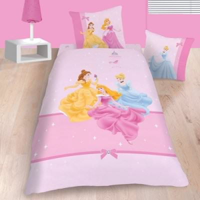 disney princesse parure de housse de couette lit enfant 100 coton glitter disney. Black Bedroom Furniture Sets. Home Design Ideas
