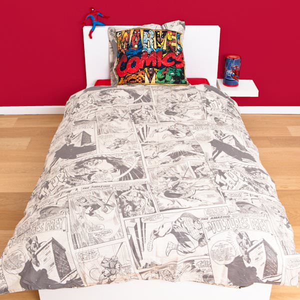 housse de couette spiderman 240 x 220 cm parure de lit marvel comic decokids. Black Bedroom Furniture Sets. Home Design Ideas