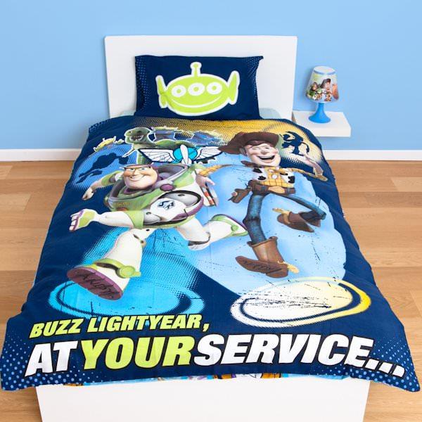 Housse de couette toy story 140 x 200 cm parure de lit for Housse de couette power rangers