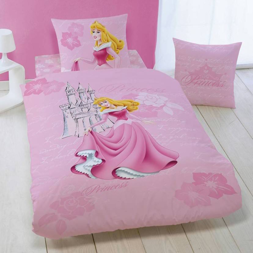 disney princesse housse de couette parure de lit enfant en flanelle aurore disney. Black Bedroom Furniture Sets. Home Design Ideas