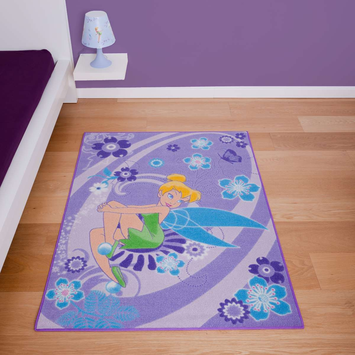 disney fairies tapis f e clochette 133 x 95 cm fairies f e clochette decokids tous leurs. Black Bedroom Furniture Sets. Home Design Ideas