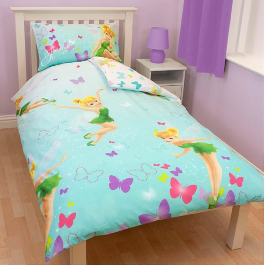housse de couette disney fairies f e clochette 140 x 200 cm parure de lit r versible decokids. Black Bedroom Furniture Sets. Home Design Ideas